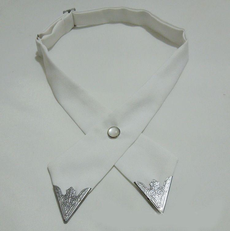 2016-Fashion-Adjustable-Cross-Polyester-Tie-Solid-Color-Collar-Cross-Wedding-Tie-White-Universal-Necktie-High (5)