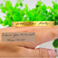 Wholesale Retro Hand Written Bangle Personalized Engraved Bangle Custom Word Plate Cuff Bangle Memorial Gift