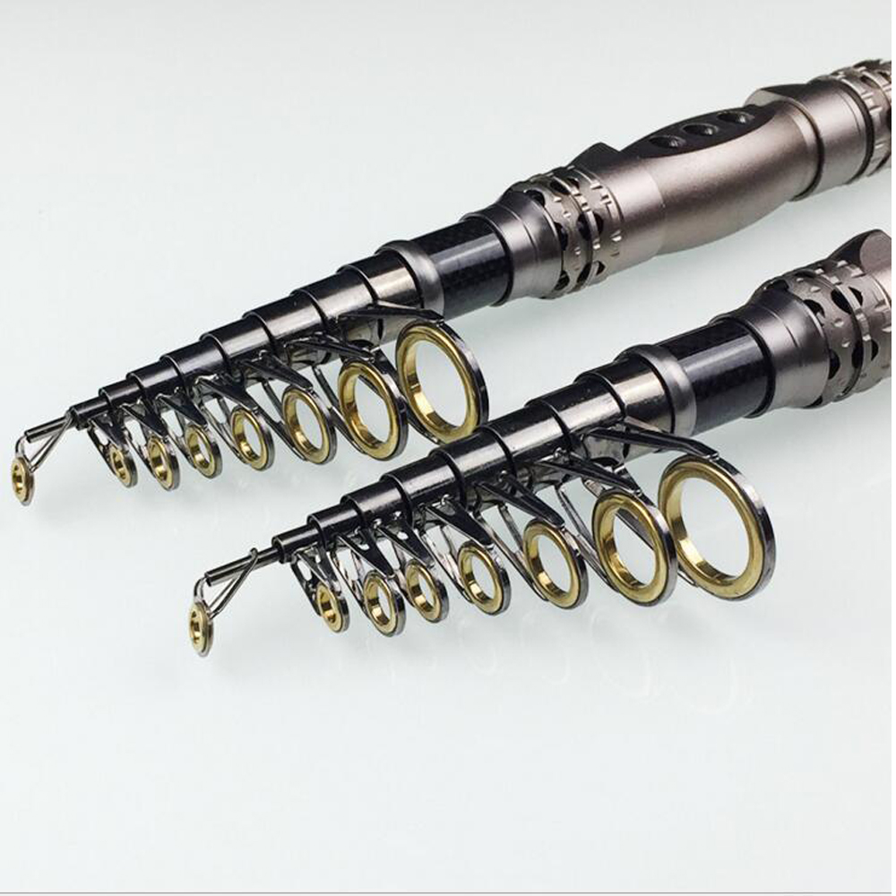 New Carbon 1.8M 2.4M 2.7M 3.0M Portable Telescopic Fishing Rod Spinning Fish Hand Fishing Tackle Sea Rod