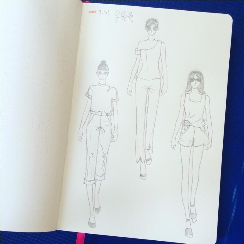 A5 Fashion Designer Notebook Marker Sketchbook Prickad linje Body - Block och anteckningsböcker - Foto 2