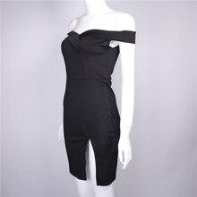 FREE SHIPPING !! Off Shoulder Slash Neck Hot Slit Dress JKP941