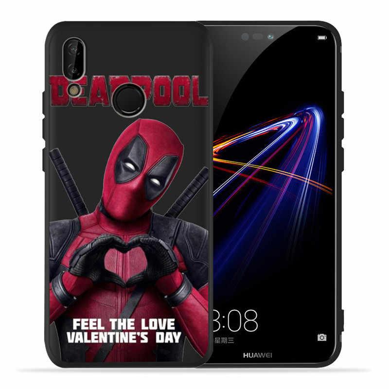 custom For Huawei P8 P10 P20 P30 Mate 10 20 Honor 8 8X 8C 9 V20 20i 10 Lite Plus Pro Case Cover Coque Etui Funda Marvel Deadpool