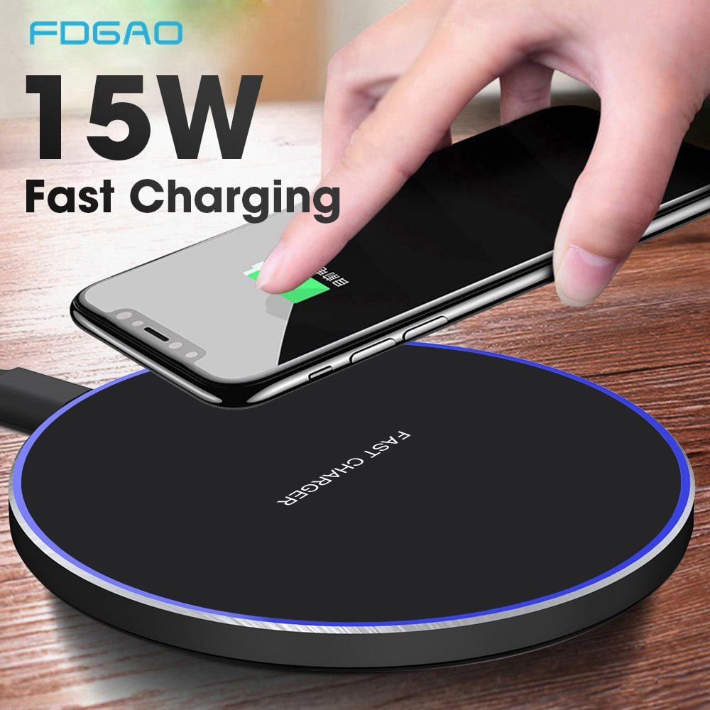 FDGAO Wireless-Charger Qi Fast-Charging Huawei P30 Samsung S10 Note 10 For iPhone USB