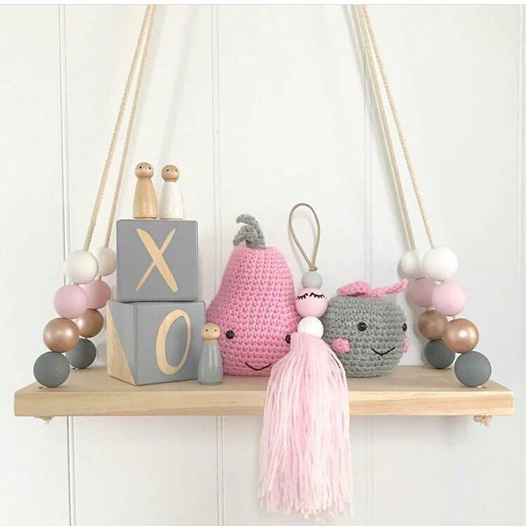 dzieci baby room p ki cienne diy oryginalne koraliki drewniane p ki p ka cienna organizacji. Black Bedroom Furniture Sets. Home Design Ideas