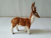 About 14x18cm Simulation Deer Model Polyethylene Real Furs Handicraft Figurines Prop Home Decoration Toy Gift A1816