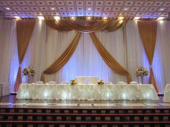 Gold And White Center Table