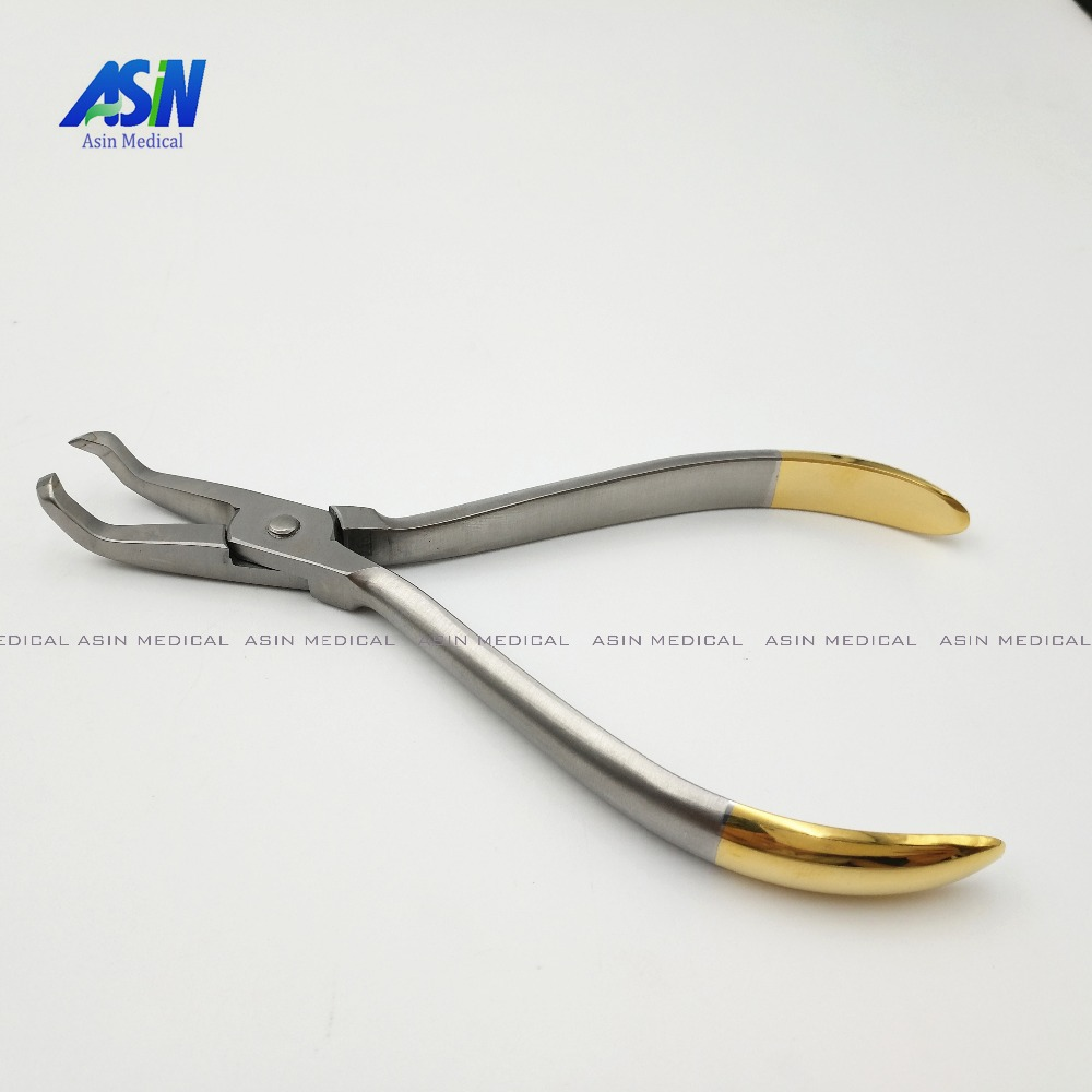 1PC Dental Bracket Remover Pliers curved End 45 degree Dental orthodontics Pliers  цены