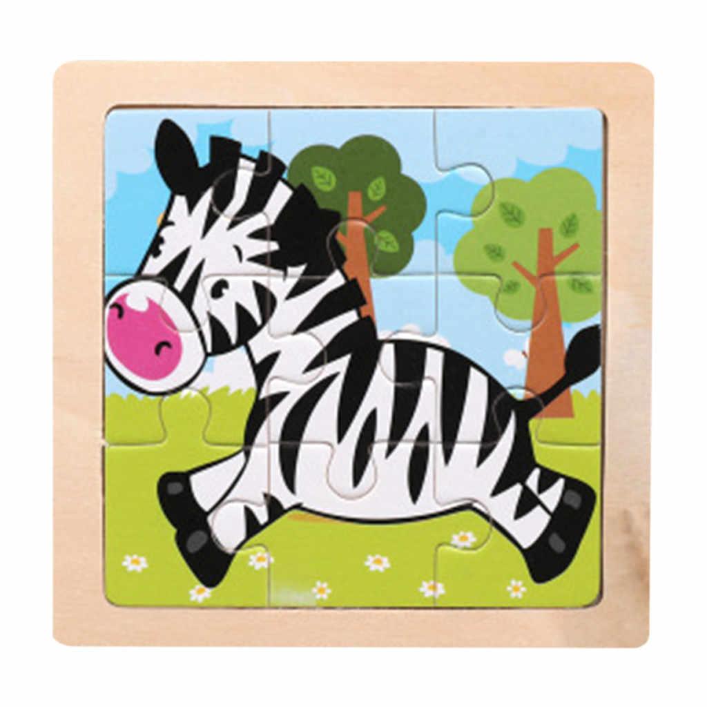 2019 трехмерные красочные деревянная головоломка образовательная игрушки Развивающие детские игрушки ребенок начальное обучение Игра # D6