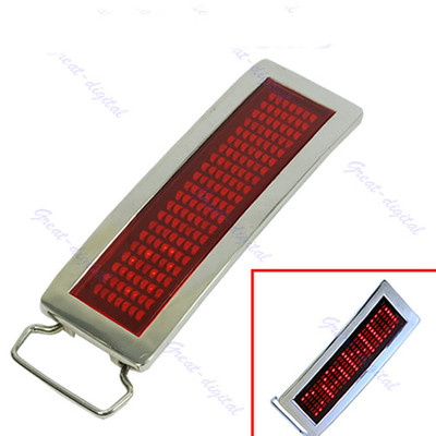 Programmable Red LED Light Text Name Message Display Scrolling   Belt   Buckle