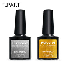 8ML Multi-use Uv Top + Base Coat 8ml color Gel Polish Long-lasting Nail Soak Off Lacquer Varnish Bond Primer