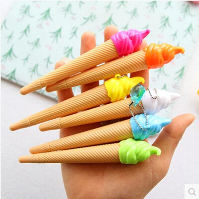 10pcs/lot  lovely creative ice-cream gel pen Black craft gift South Korea stationery