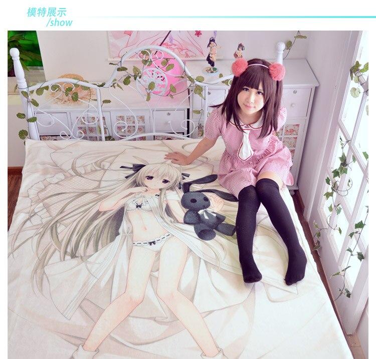 Japanese Anime Game Caligula Printed Bed sheets 120 200cm 150 200cm Bedsheet otaku Bed sheet in Sheet from Home Garden