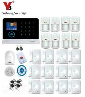 Yobang Security Smart 3G Home Security Alarm System WIFI APP Control Anti Thieft Alarmes With Wireless Blue Siren Smoke Detector