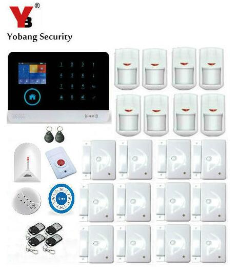 Yobang Security Smart 3G Home Security Alarm System WIFI APP Control Anti-Thieft Alarmes With Wireless Blue Siren Smoke Detector
