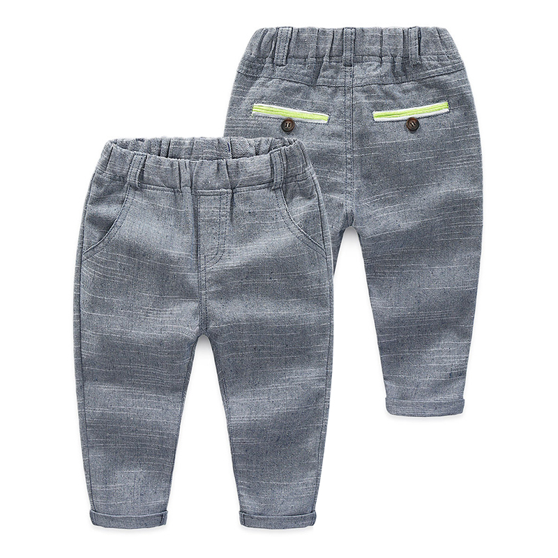 2018 Spring Autumn Europe 3-12T Years Teenage Student Solid Color Elastic Child Trousers Baby Kids Boys School Style Long Pants