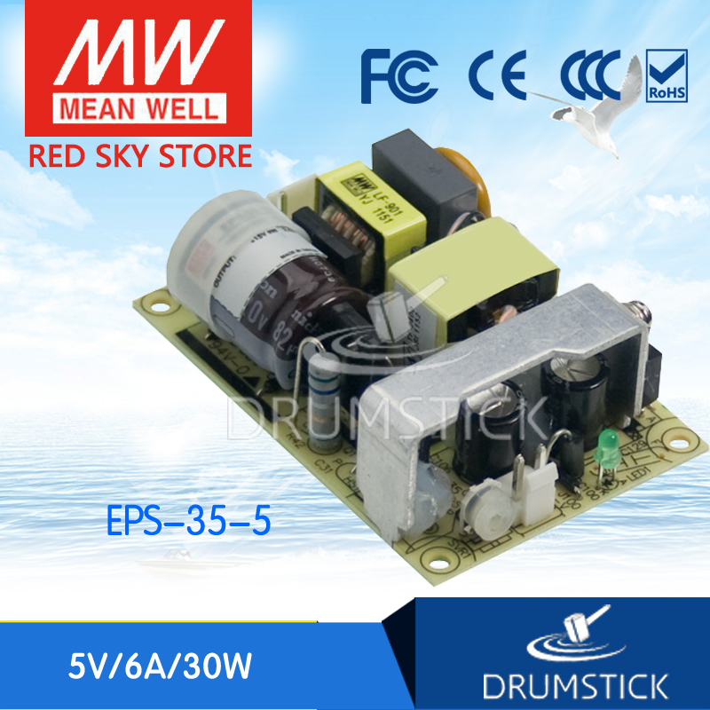 Selling Hot MEAN WELL EPS-35-5 5V 6A meanwell EPS-35 5V 30W Single Output Switching Power Supply selling hot mean well rsp 1500 5 5v 240a meanwell rsp 1500 5v 1200w single output power supply