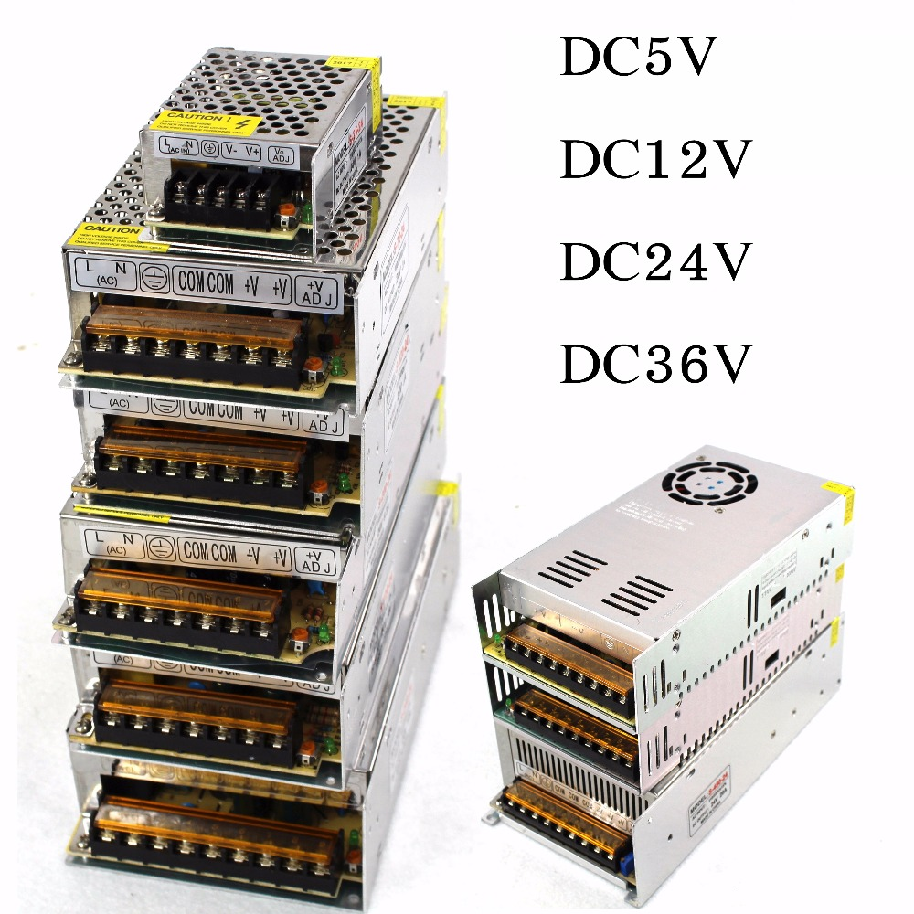 Hot Sale AC85-265V 110V 220V to <font><b>DC5V</b></font> 12V 24V 36V <font><b>48V</b></font> 1A 2A 3A 5A 10A 15A 20A 30A 40A 80A CCTV / LED Strip Power Supply Adapter image