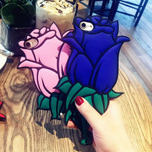 Valentine Gift 3D Rose Flower Soft Silicon Phone  Case For iPhone 7 Plus 6 6S 6 Plus 5 5S SE 5C