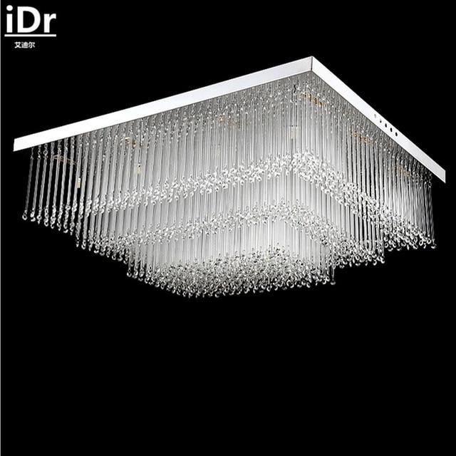 Deckenleuchte Modern moderne einfache rechteckige led kristall deckenleuchte schlafzimmer