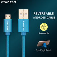 Momax Original 1m Micro USB Connector Data Cable Braided Cord Smart Phone USB Charger Cable For