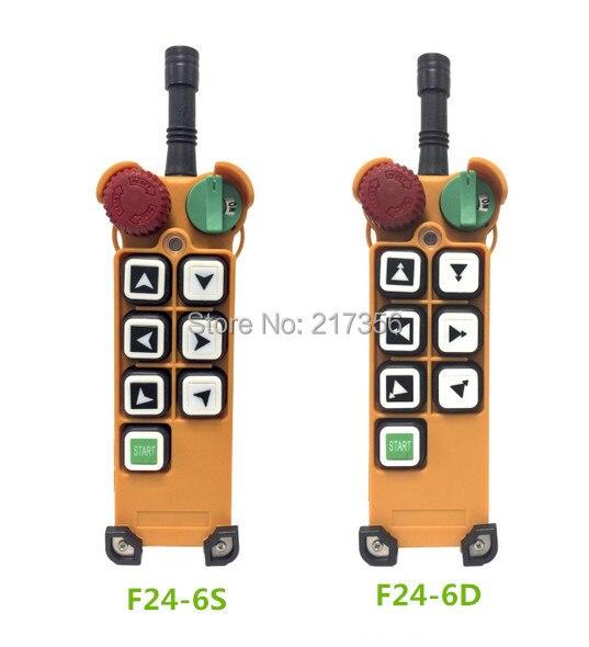 F24 6D (beinhalten 1 sender und 1 empfänger)/6 tasten 2 Speed Hoist kran fernbedienung wireless crane Uting fernbedienung-in Fernbedienungen aus Verbraucherelektronik bei  Gruppe 1