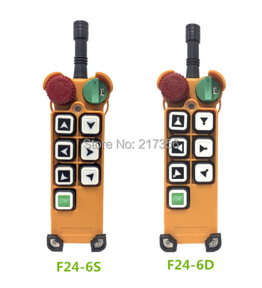 F24 6D(include 1 transmitter and 1 receiver)/6 buttons 2 Speed Hoist crane remote control wireless crane Uting remote control-in Remote Controls from Consumer Electronics    1