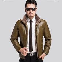 -20 Degree Warm Winter Leather Jackets Men Soft Warm Leather Clothing Fashion Coat Male Plus Size Winter Coat Jaqueta De Couro