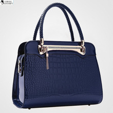 2016 New Woman Package Fashion European Concise Crocodile Package Single Shoulder Portable Woman Package Diagonal Will Bag