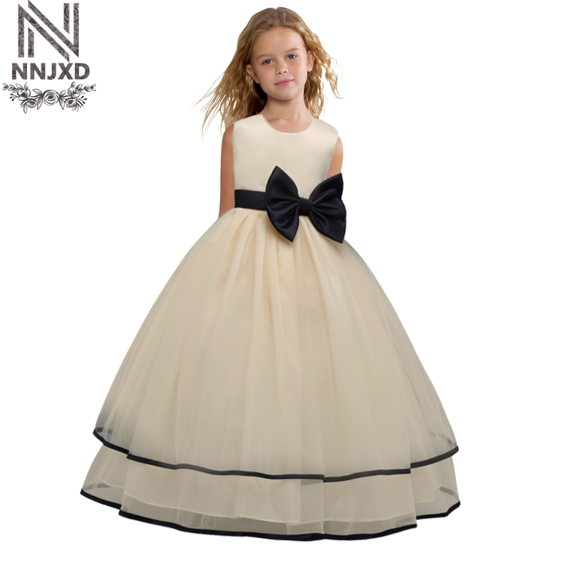 Fluffy Flower Kids Dress Baby Girls Clothes Princess Lace Party Dresses Wedding Pageant Party Children Costumes For Girl 6 8 9T girl dress kids clothes 2016 wl original lemon flower print a line baby girl dress children cotton princess dress girls costumes