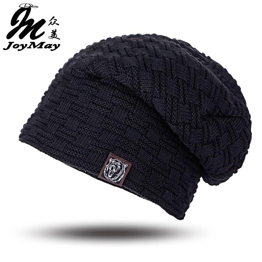 2016 Beanies Knit Men's Winter Hat Caps Skullies Bonnet Winter Hats For Men Women Beanie Fur Warm Baggy Wool Knitted Hat WM052