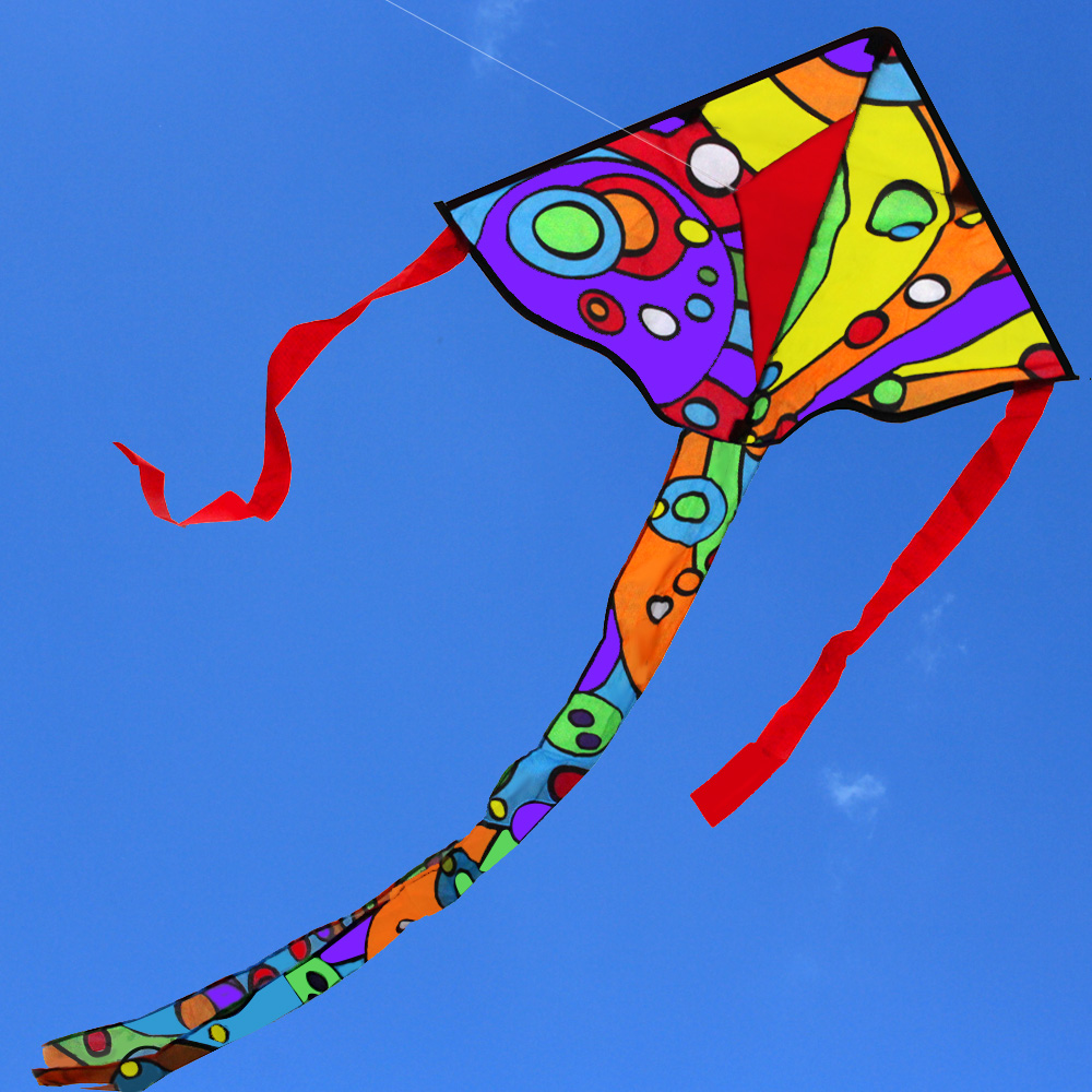 New Arrive Outdoor Fun Sports Art Cartoon Kite With Long Tail /Children Kites With Handle & Line