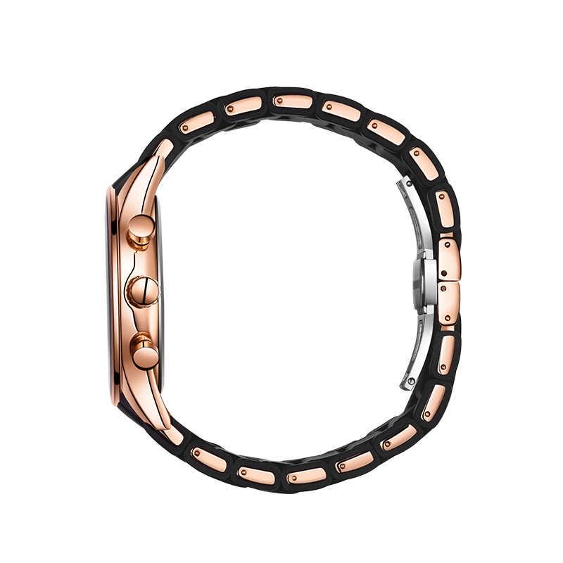 Mężczyźni oglądać luksusowe ezopa zegarek kwarcowy silikonowe i stop pasmo modny mężczyzna zegar na rękę wodoodporny Relogio Masculino satti zegar