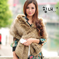 2015 autumn and winter women's Ultra long faux fox fur collar muffler scarf raccoon fur cape thicken warm Pashmina