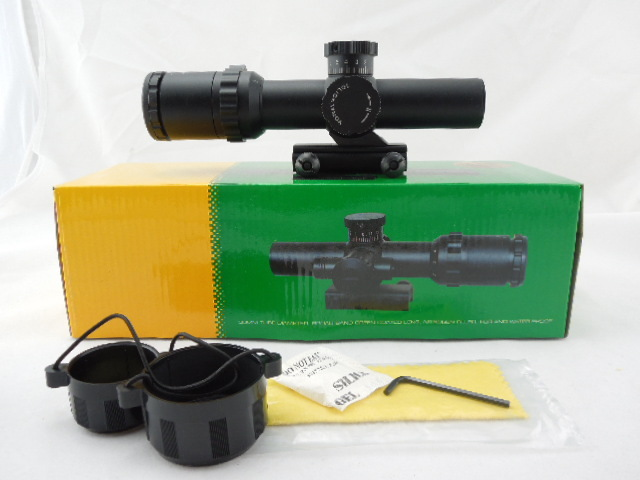 Hot Sale Tactical Riflescope 1-6x22 Side Wheel Hunting Sight Red & Green Illuminated Optical Rifle Scope hot sale 2 5 10x40 riflescope illuminated tactical riflescope with red laser scope hunting scope page 5