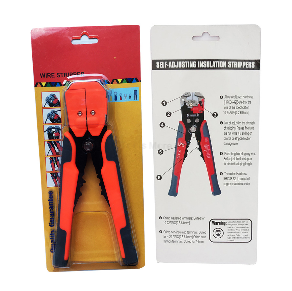 Buy 1pcs 8 Inch Multi Tools 10 24 Awg Stranded Self Dangers Of Aluminum Wiring Adjusting Automatic Cable Wire Stripper Pliers Cutter Crimper Plier Cut From