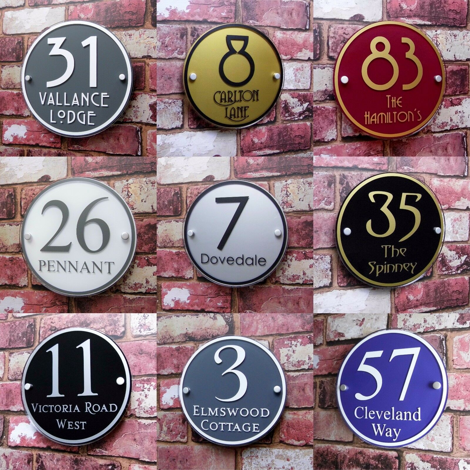 Customize MODERN HOUSE SIGN PLAQUE DOOR NUMBER LOTS OF COLOUR OPTIONS AVAILABLE!