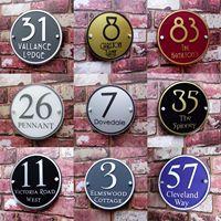 Personalize o número moderno da porta da placa do sinal da casa lotes de opções da cor disponíveis!|Placas de porta| |  -