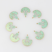 30pcs 21*17MM Retro Verdigris Patina Plated Zinc Alloy Green Anchor Axe Charm Pendants For DIY Jewelry Accessories