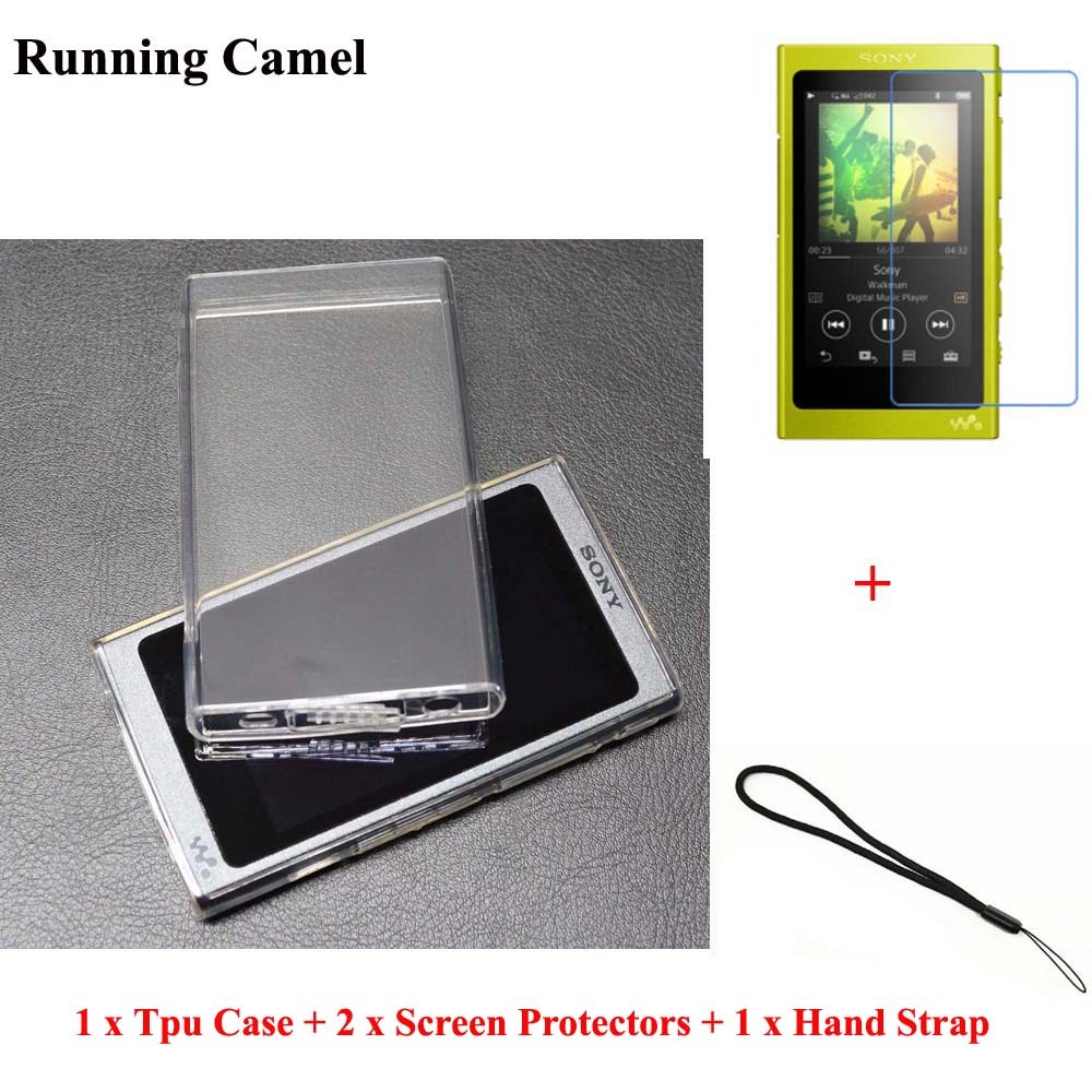 Running Camel Soft TPU Case For Sony Walkman NW A45 A47 A35 A36 A37 Screen Protector Strap for Sony A35HN A36HN A37HN
