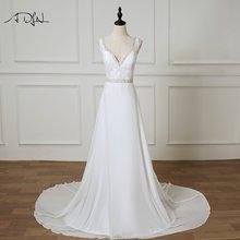 Женское свадебное платье adln шифоновое большого размера с v