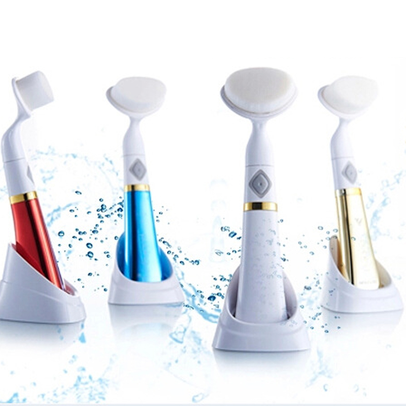 Lmlly 3D Electric Facial Brush cleanser Ultrasonic Cleaning Brush deep clean wash Cosmetic brush soft hair 3D wash brush deep face cleansing brush facial cleanser 2 speeds electric face wash machine