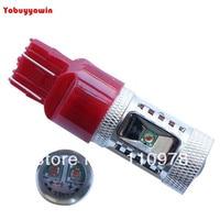 2 Pcs Mais Novo 30 W T20 7443 CREE XBD Chips Led Auto Cauda Luz de Freio Lâmpada Lâmpada Super Bright Red