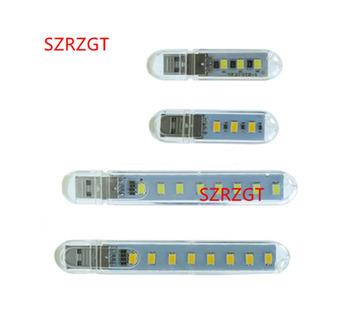 Mini USB lampka nocna 3 diody led 8 diody led 5730 SMD światła książki 5 V do laptopów PC komputer telefon komórkowy moc lampa kempingowa tanie i dobre opinie Piłka SZRZGT