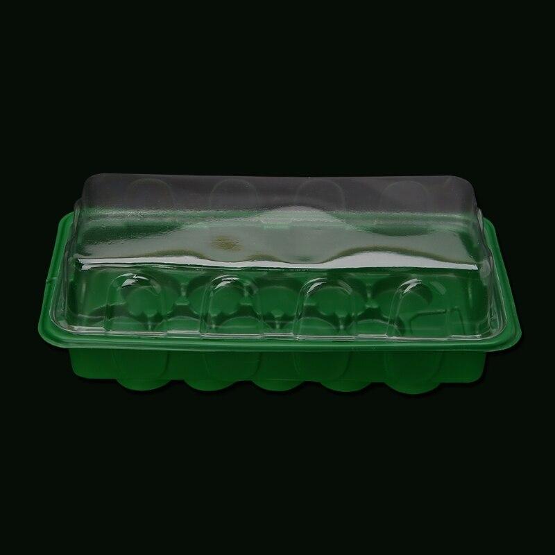 Ventilation Holes Plastic Nursery Pots 15 Holes Plant Seeding Tray Sprout Plate Case Box Garden Nursery Pot