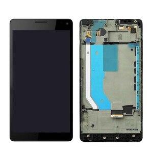 Image 1 - Czarny dla 5.7 instrukcji obsługi Microsoft Nokia Lumia 950XL ekran dotykowy montaż lcd i digitizer zgromadzenia dla ramki dla Lumia 950 XL RM 1116