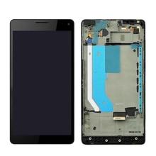 "Siyah 5.7 ""Microsoft Nokia Lumia 950XL dokunmatik ekran LCD meclisi ve digitizer meclisi için çerçeve için Lumia 950 XL RM 1116"