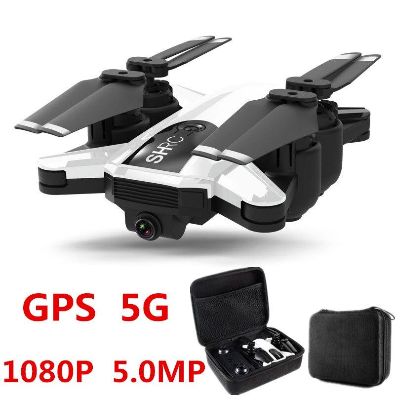 Profession Drone GPS 1080 P HD Caméra 5G suivez-moi WIFI FPV quadcopter rc Pliable Selfie Vidéo En Direct le Maintien D'altitude retour automatique