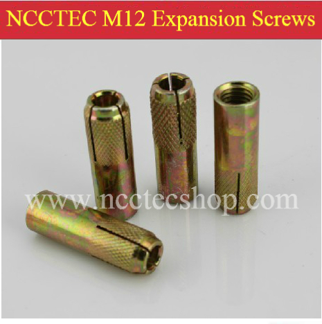 10 pcs of M12 Expansion Screws specially for fixing the NCCTEC desktop drill thick and high