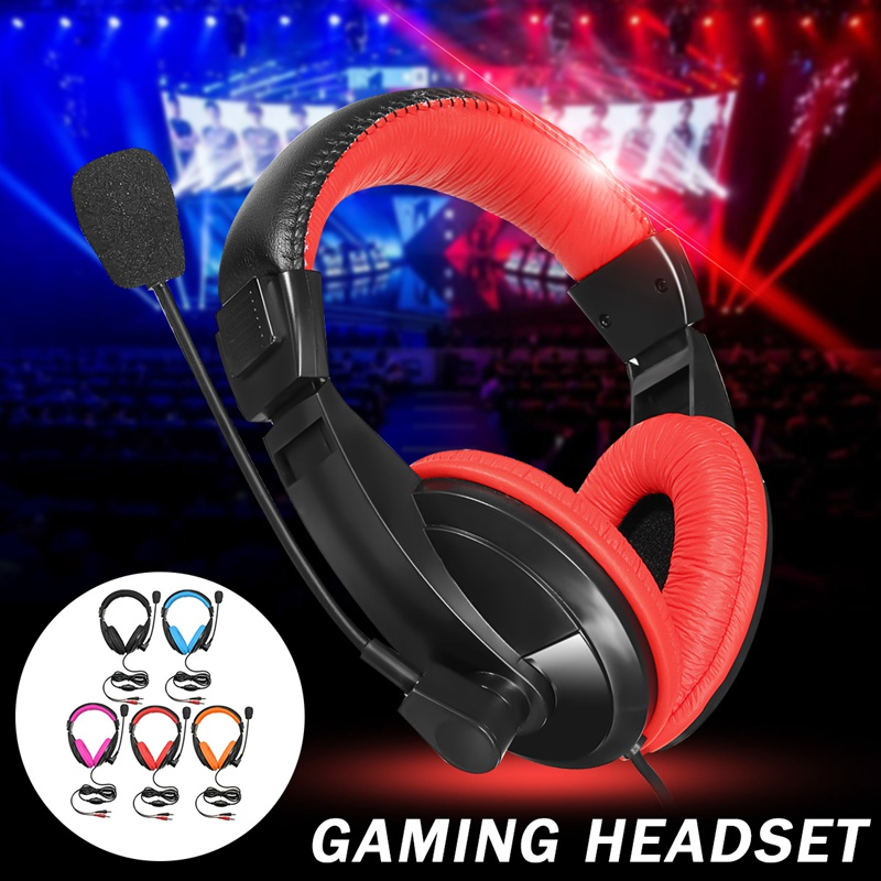Leroy DC 4.5V ABS Stereo Gaming Headphones Game Headset With Microphone Mic 2.1m Cable For Computer PC Mobile Phone Earphone teamyo n2 computer stereo gaming headphones earphones for mobile phone ps4 xbox pc gamer headphone with mic headset earbuds