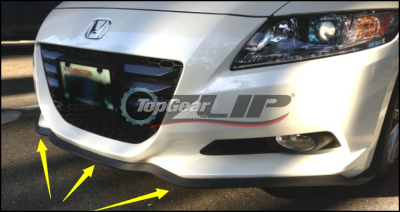 For HONDA CRZ CR Z CR-Z 2010~2015 Bumper Lip Lips / Top Gear Front Spoiler For Car Tuning / TOPGEAR Body Kit + Strip Skirt